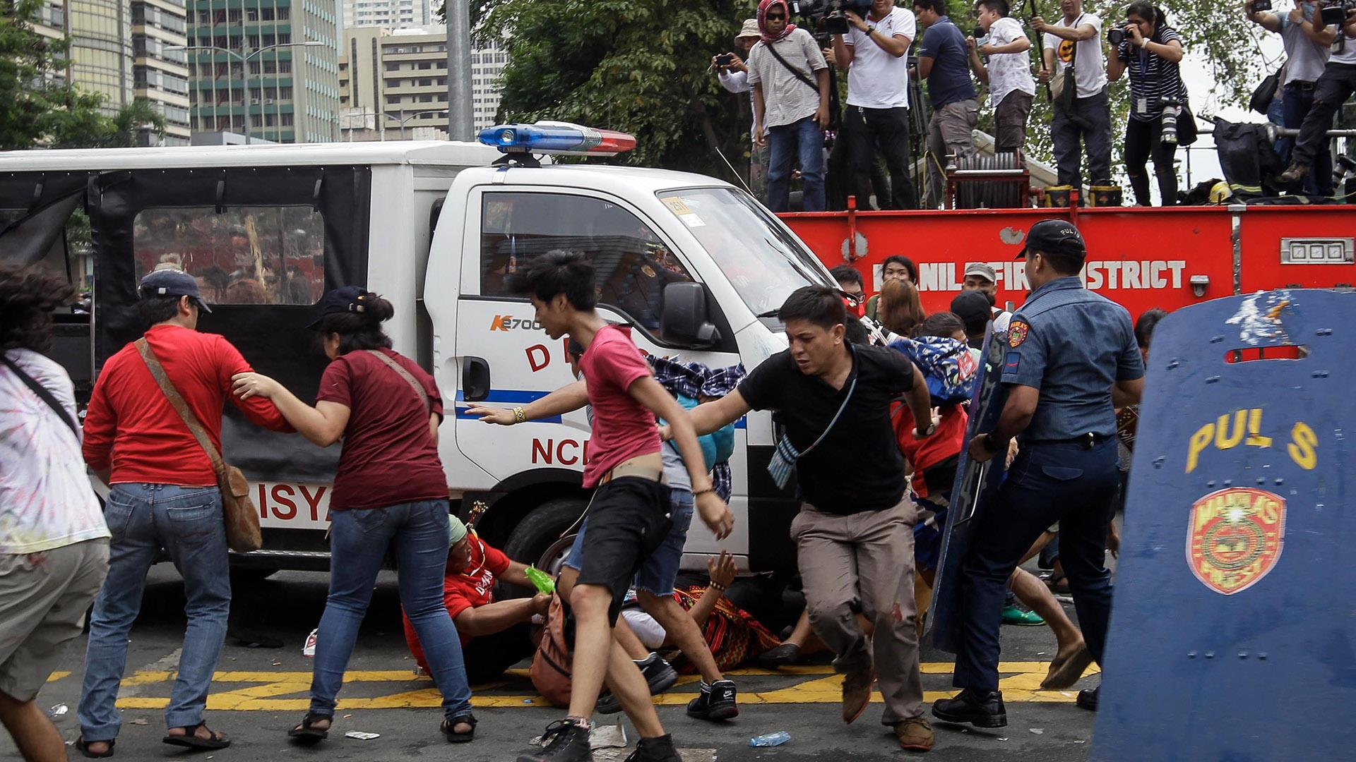 Police Truck Rams Protesters Outside U.S. Embassy in ...