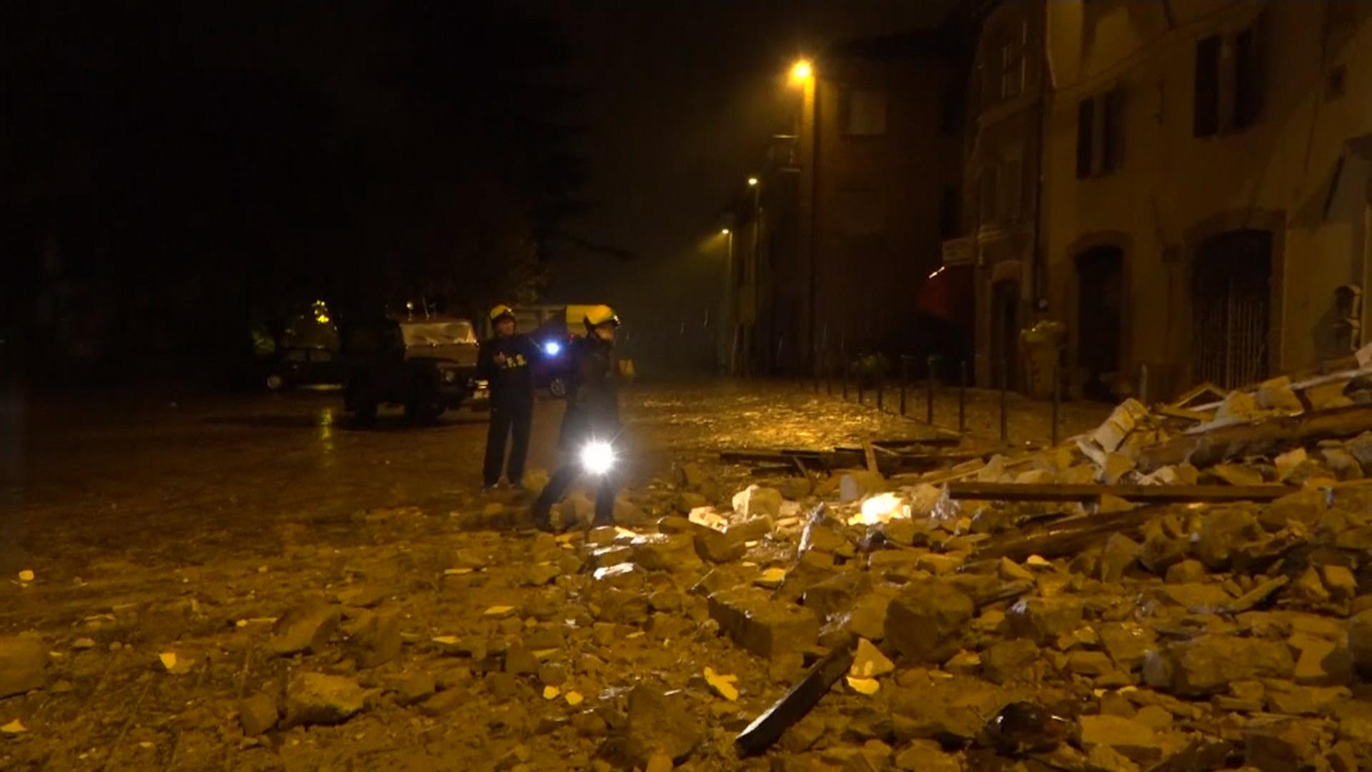 2 powerful earthquakes hit Italy near location of deadly August quake