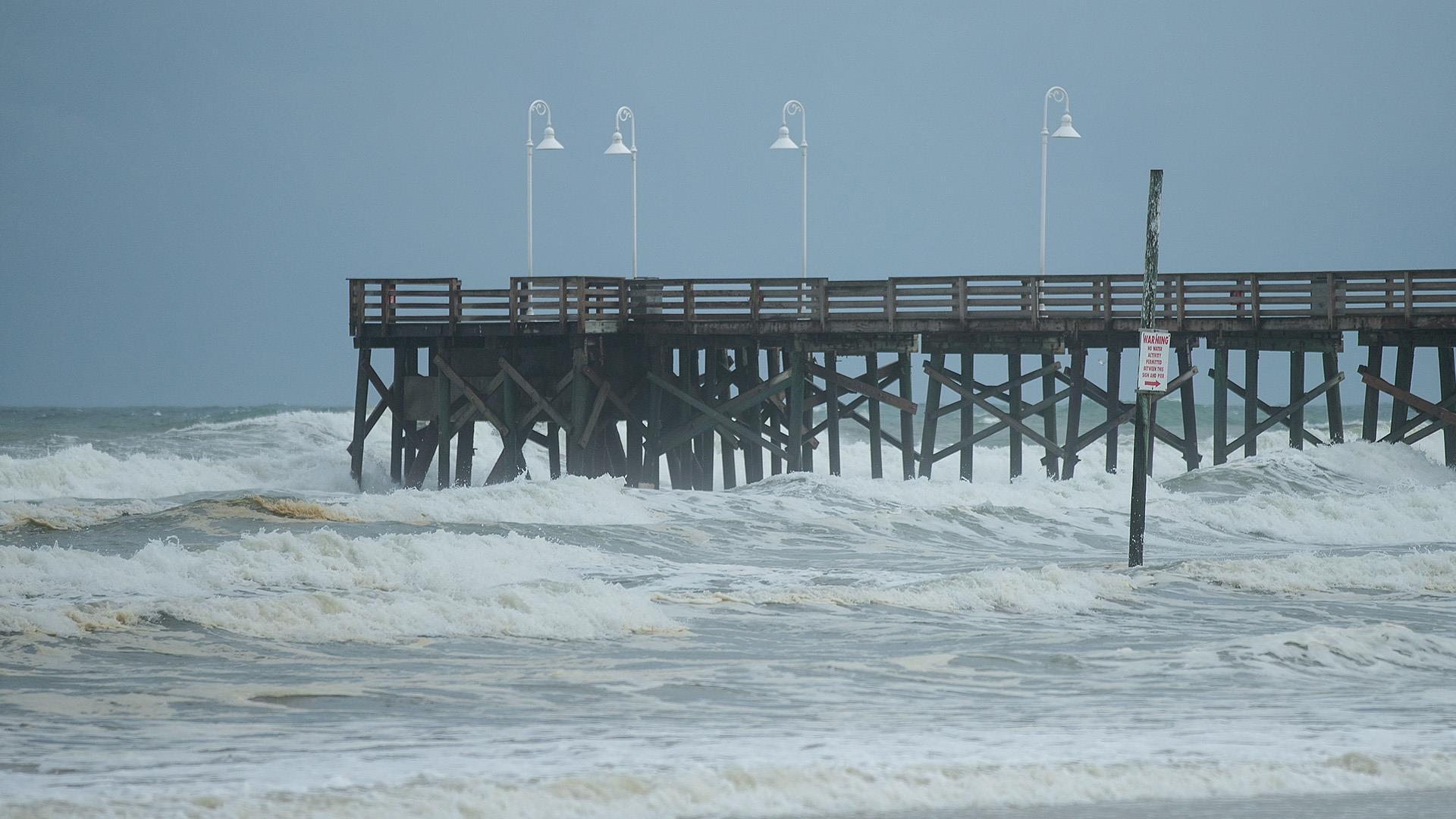 Hurricane Matthew Storm Surge Floods Highway Along Daytona Beach Nbc News