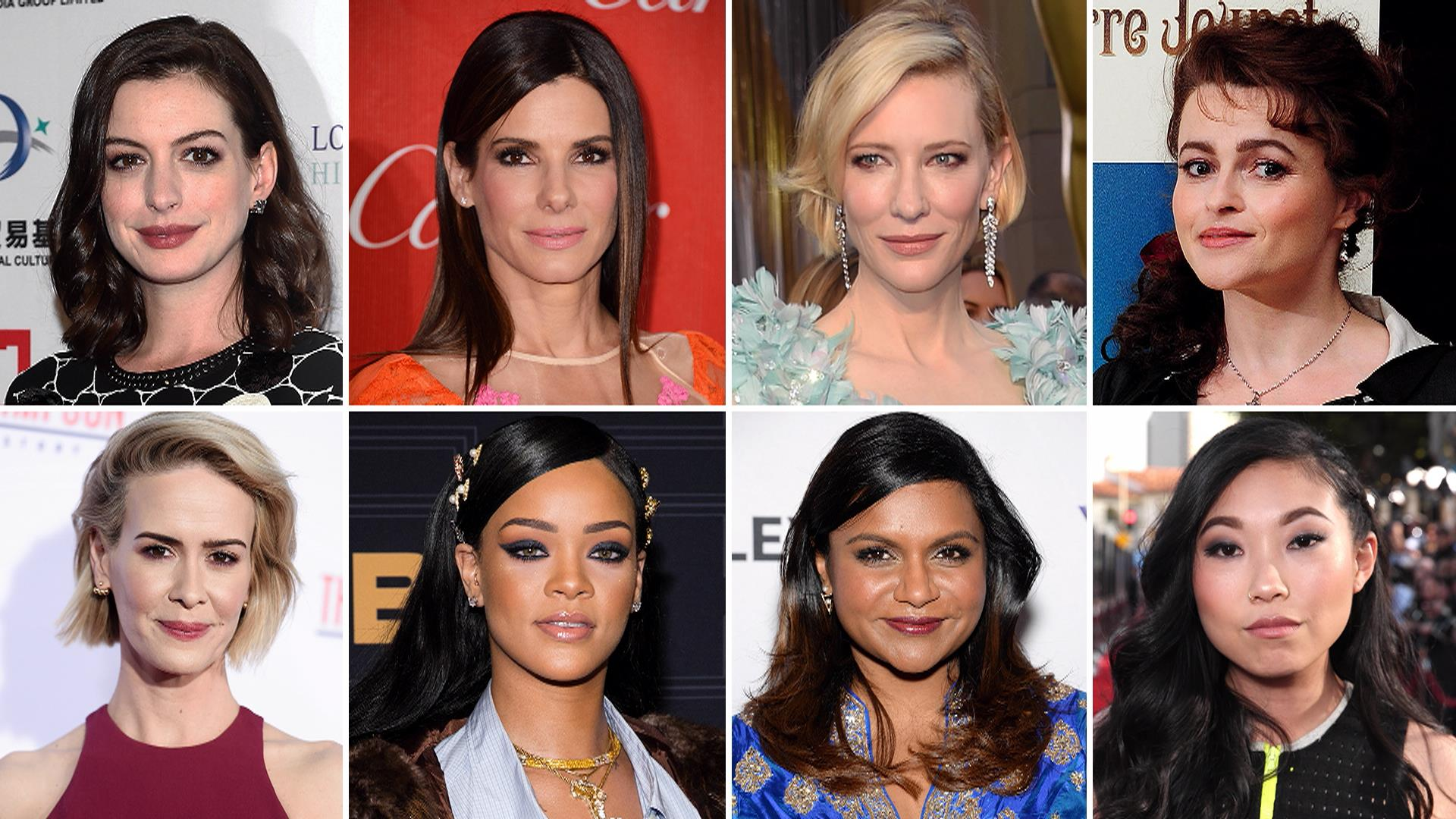 Image result for cast on the preview of Ocean's 8