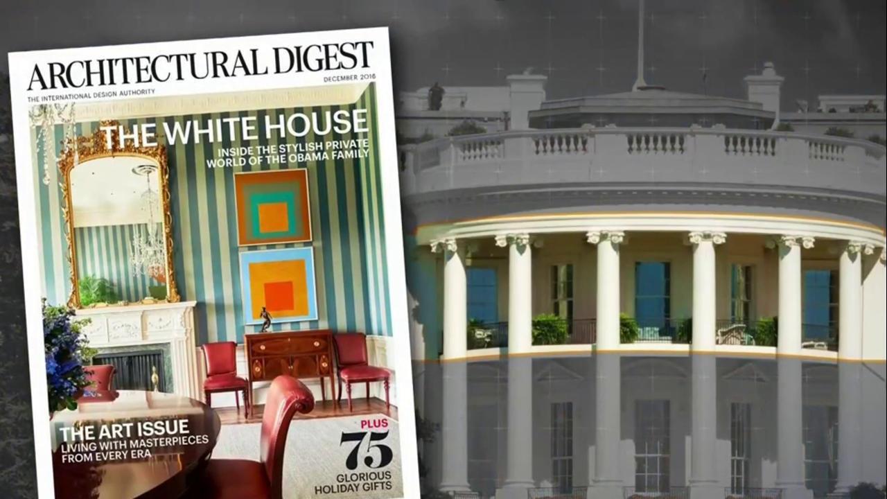 Rare Photos Inside Obamasu0027 White House Home Via Architectural Digest   NBC  News