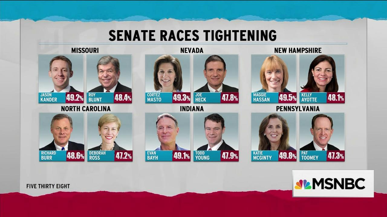 Polls show races tightening at campaigns' end