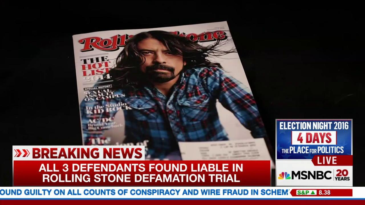 Rolling Stone journalists found liable in...