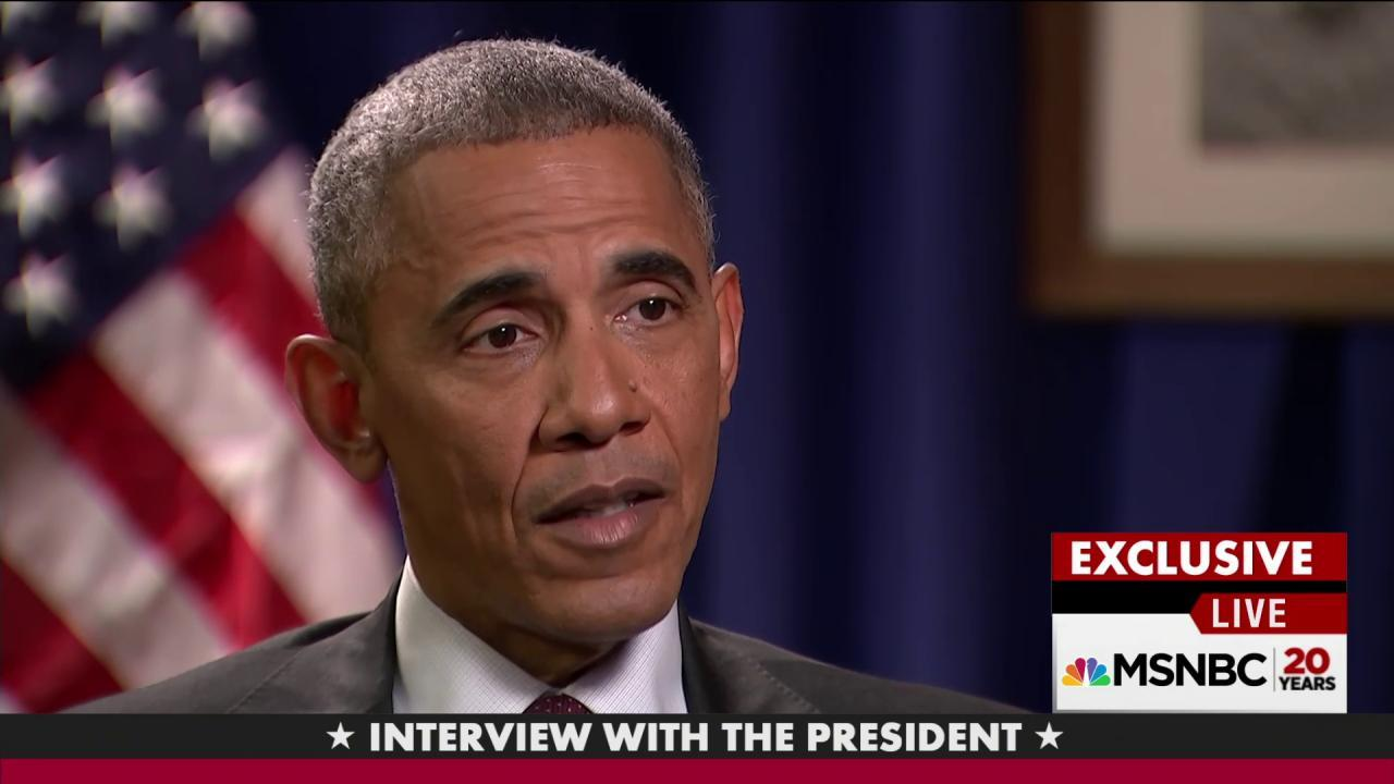 President Obama on voter suppression
