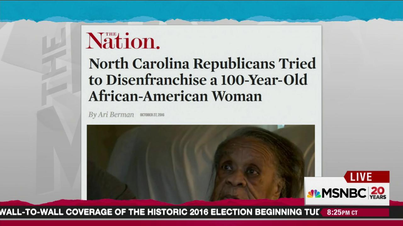 NC tries to purge 100-year-old voter