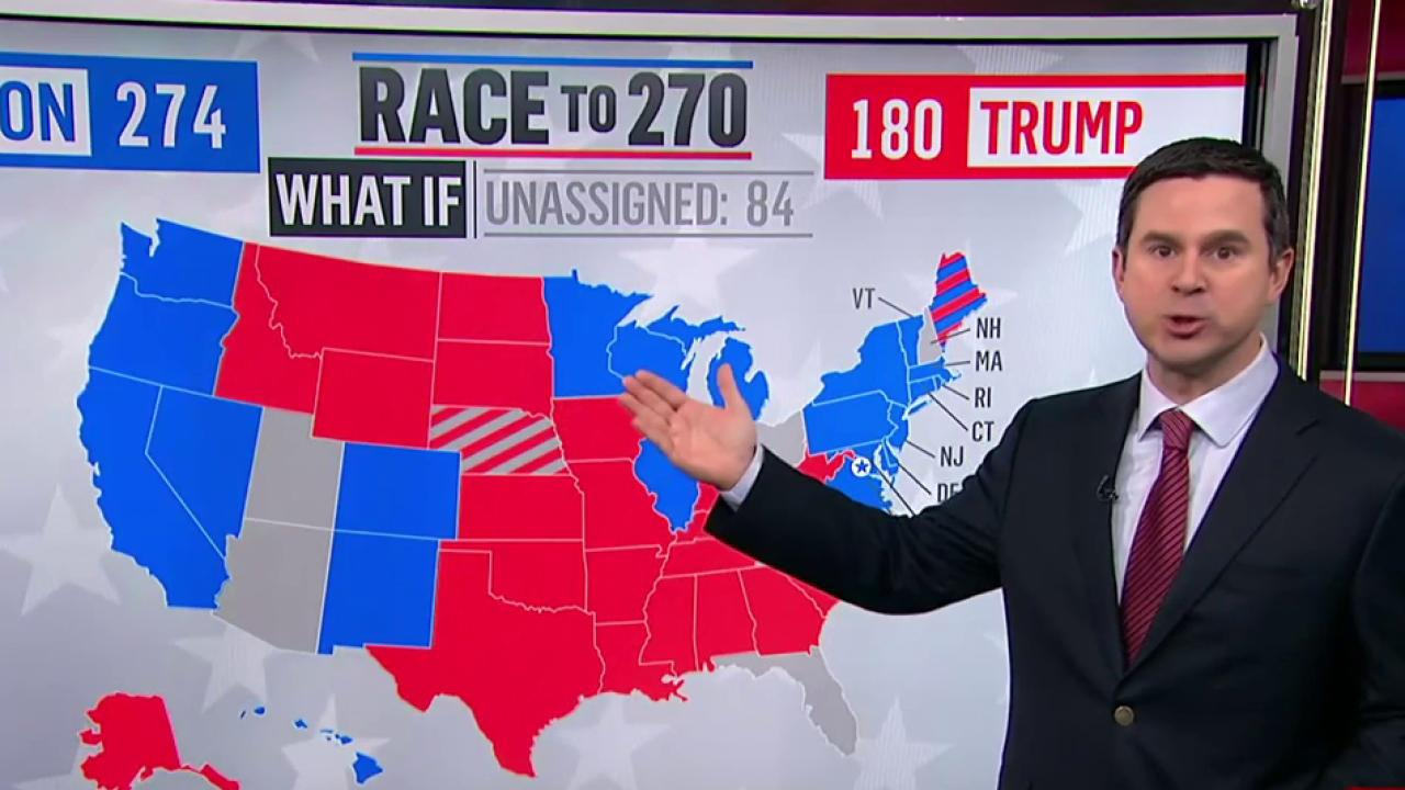 Trump vies for traditionally blue states