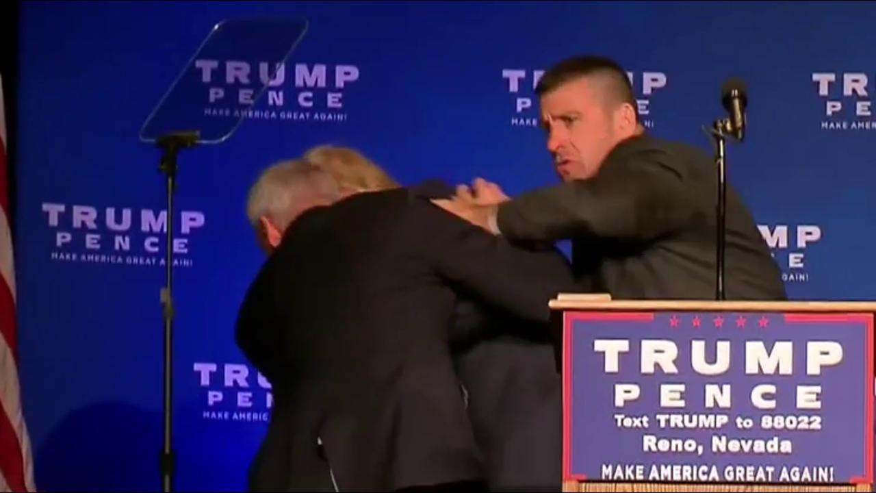 Trump Rushed Off Reno Stage After Someone Yells Gun No Weapon Found