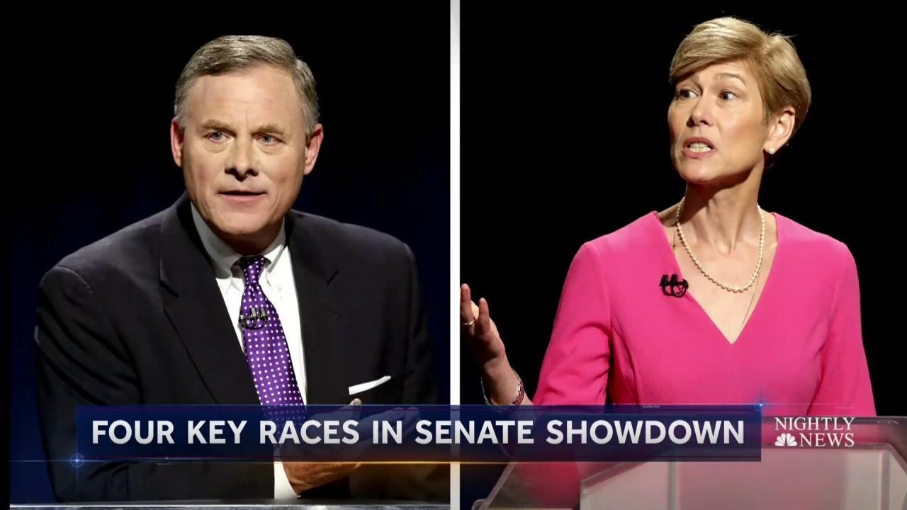 Four Key Races Could Determine Fate of U.S. Senate Control