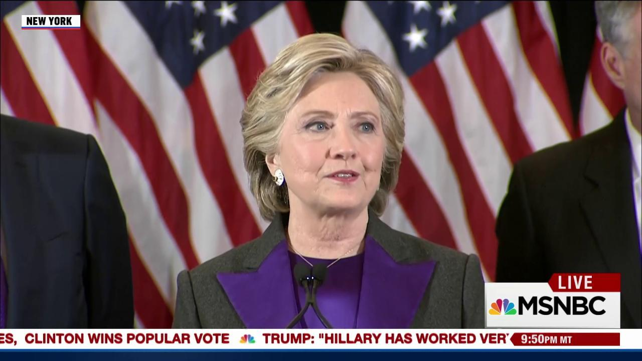 Clinton reacts to stunning loss: 'I still believe in America'