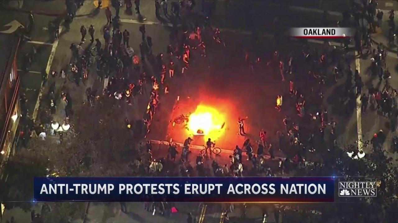 Election of Trump Sparks Anti-Trump Protests Across the Country