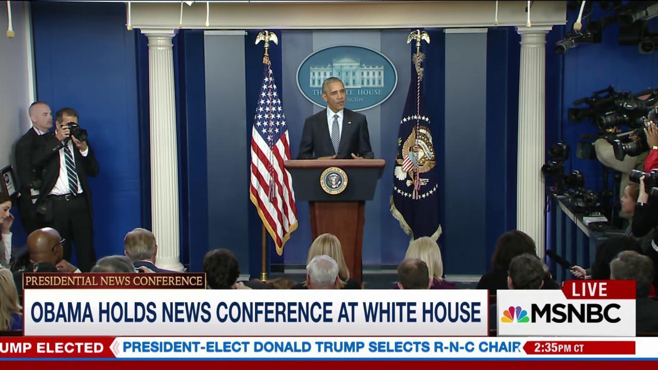 Obama holds post-election press conference