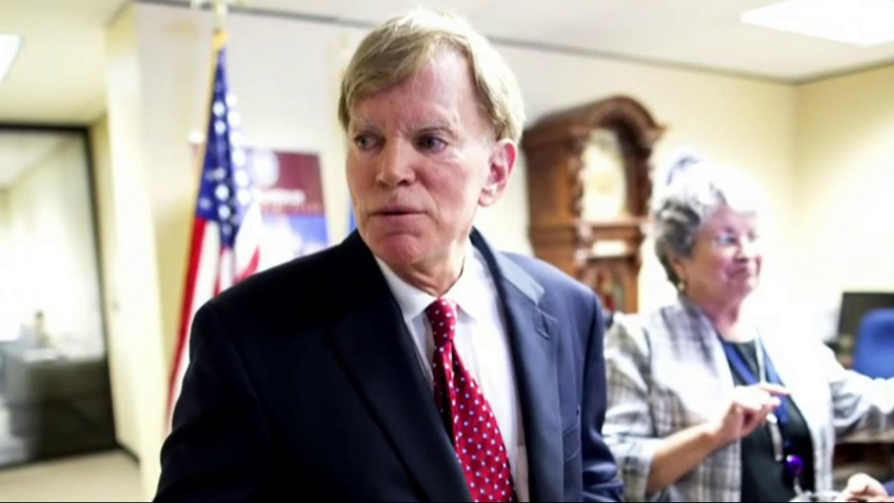 David Duke attacks Dem senator over Trump win