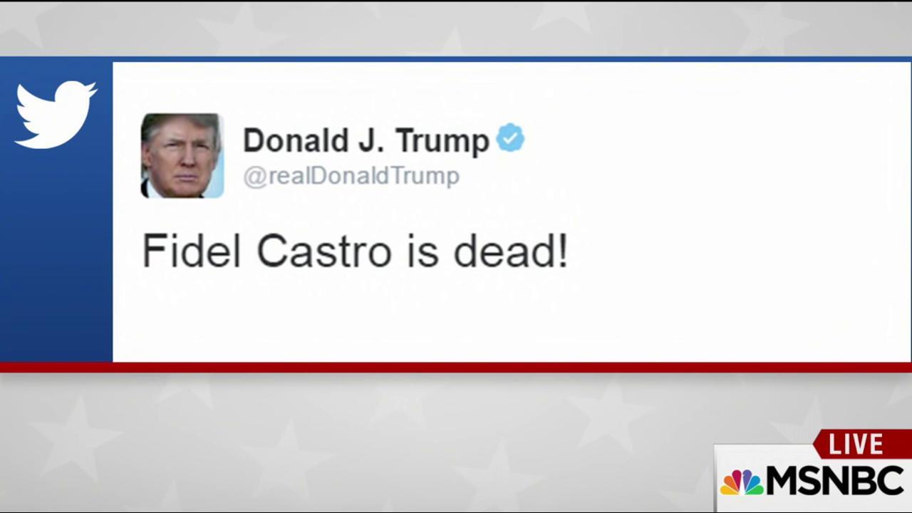Trump's reaction to Fidel Castro's death...