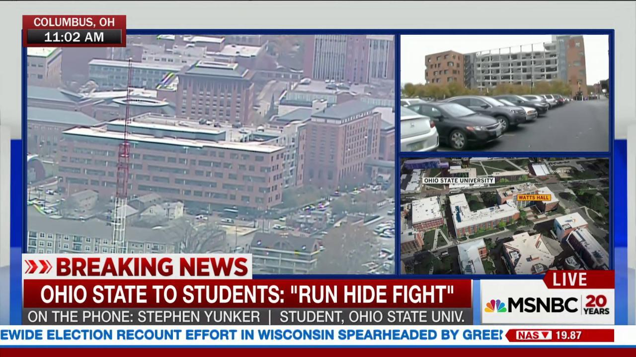 OSU student reacts to active shooter...