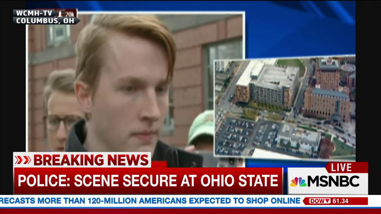 OSU student shares details of scene on campus