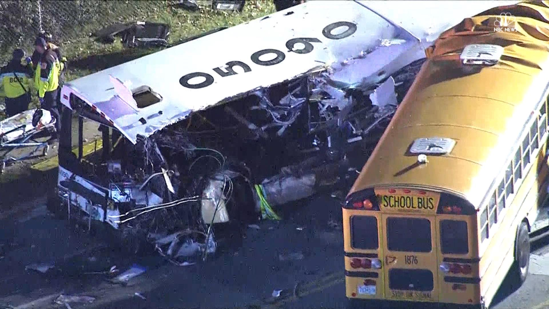 the bus crash At least 43 people died in a crash between a bus and a flat-bed truck in puisseguin in southern france after setting off from petit-palais.