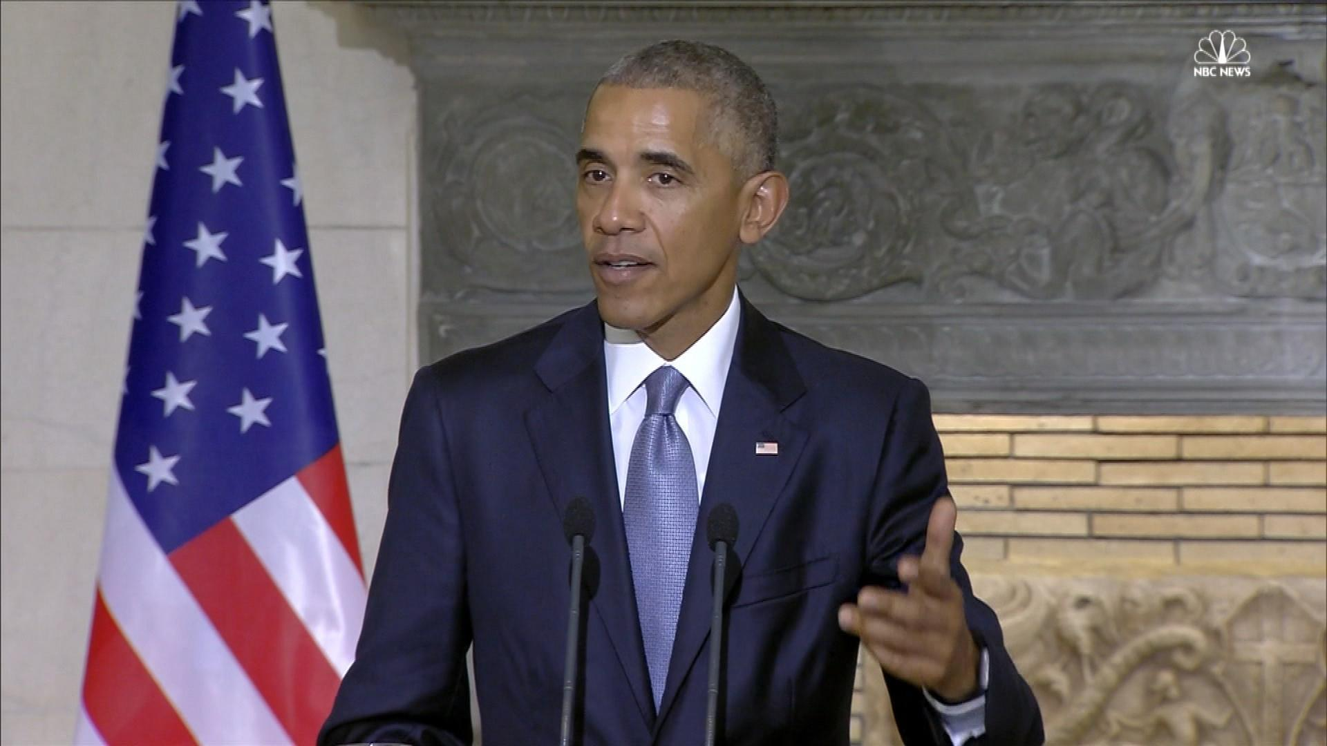 Obama During Final Foreign Trip I Still Don T Feel Responsible For Trump Nbc News