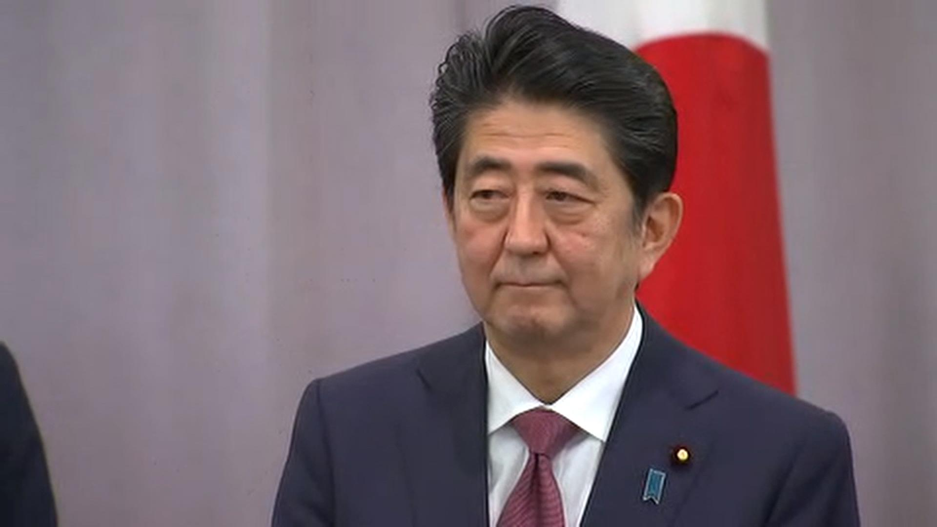 Japanese Prime Minister Shinzo Abe Meets With Donald Trump