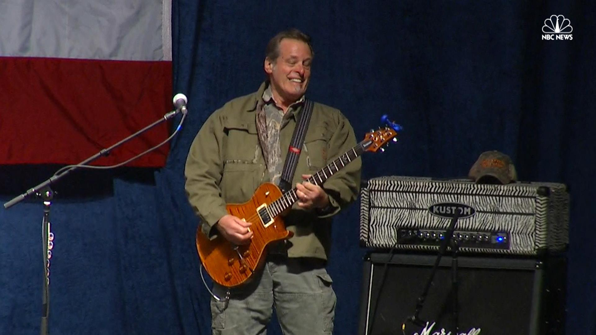watch ted nugent perform national anthem at trump rally nbc news