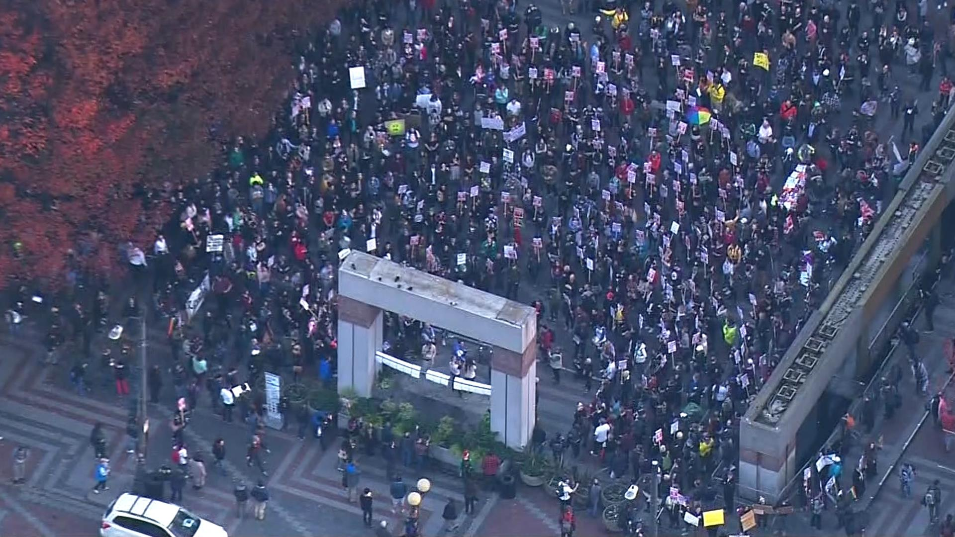 Donald Trump Win Leads To Street Protests Across US NBC News - Us news today president protesters map