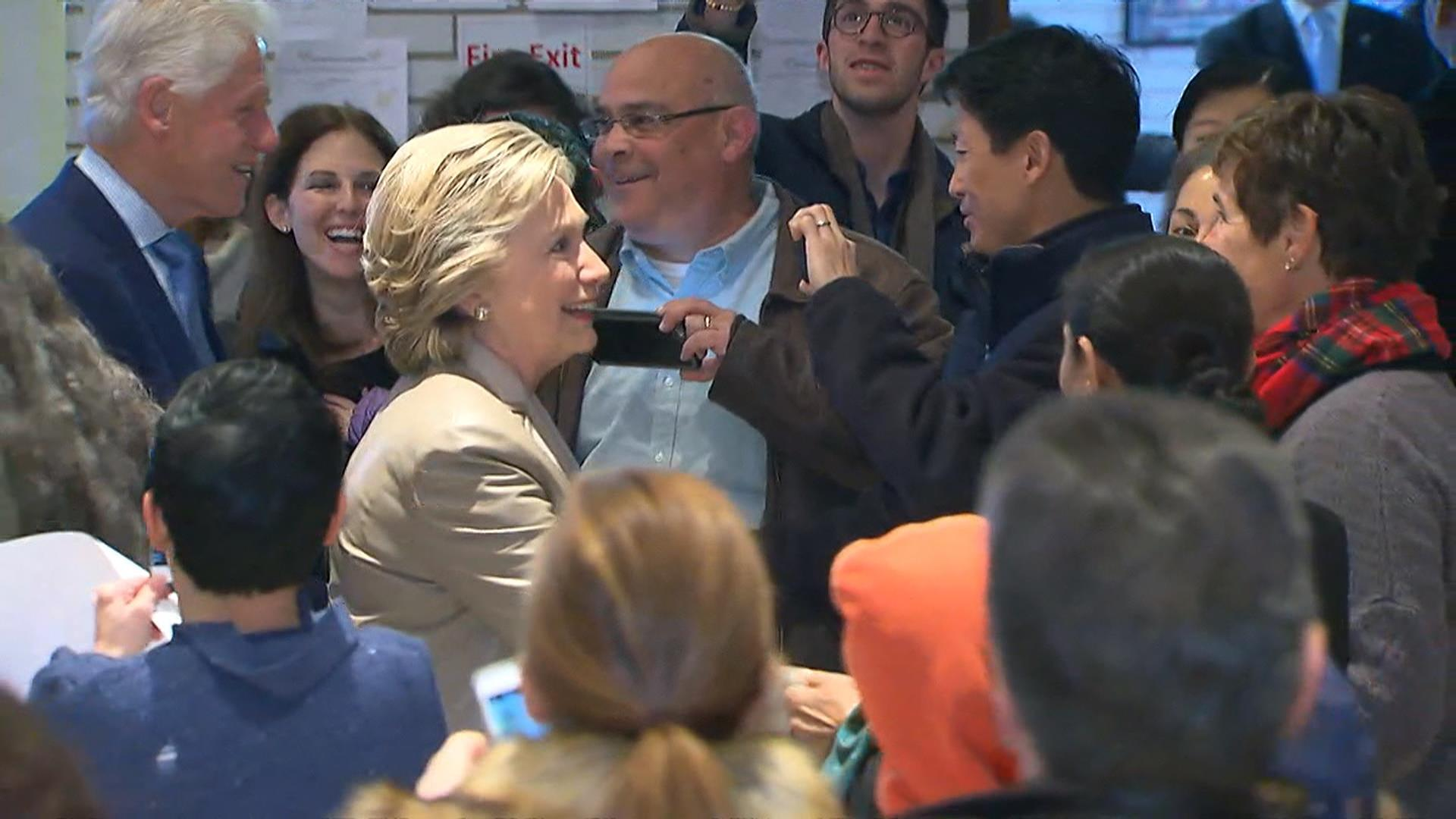 Watch Hillary Clinton Arrive To Cast Her Vote In Chappaqua