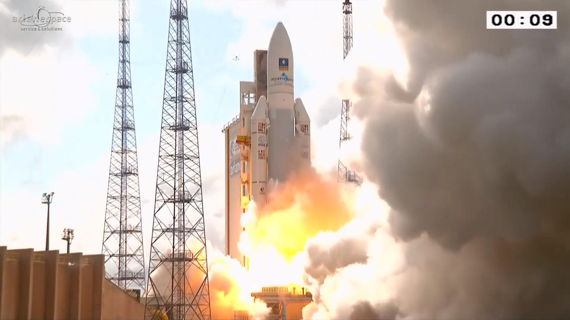 See Ariane 5 Rocket Blast Off Nbc News