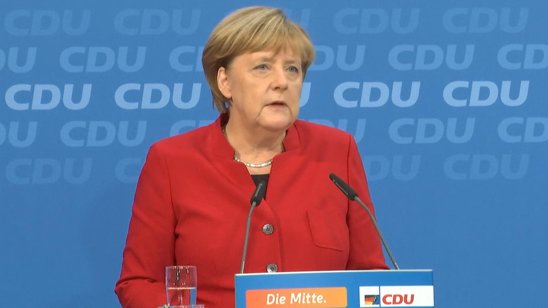 German Chancellor Angela Merkel Confirms Run For Fourth Term In Office