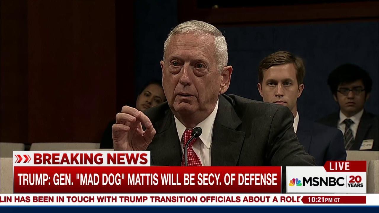 Trump picks Gen. 'Mad Dog' Mattis as...