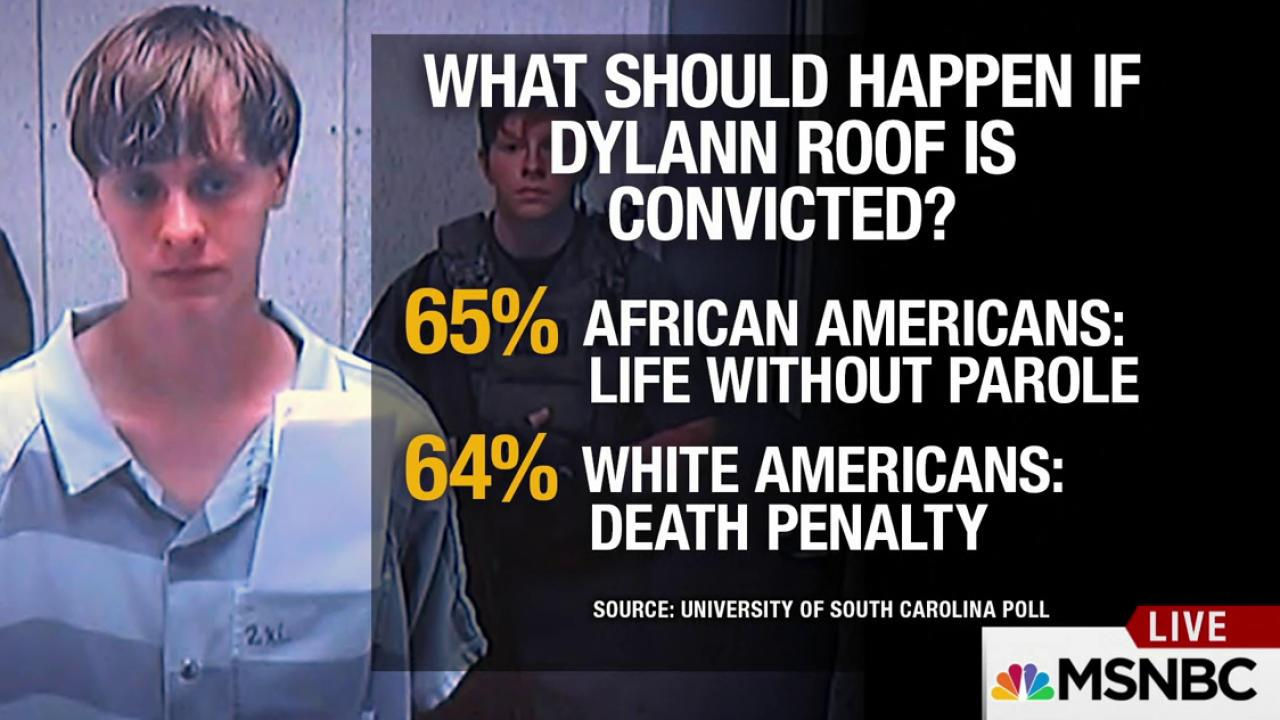 Racial divide on death penalty for Dylan Roof