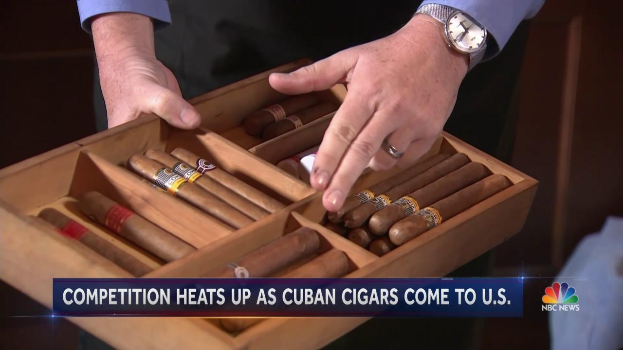 Competition Is Heating Up As Cuban Cigars Make Way to U.S.