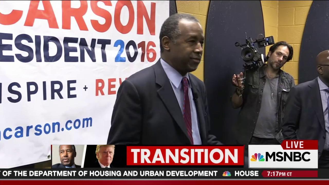 Trump picks Carson for HUD Secretary