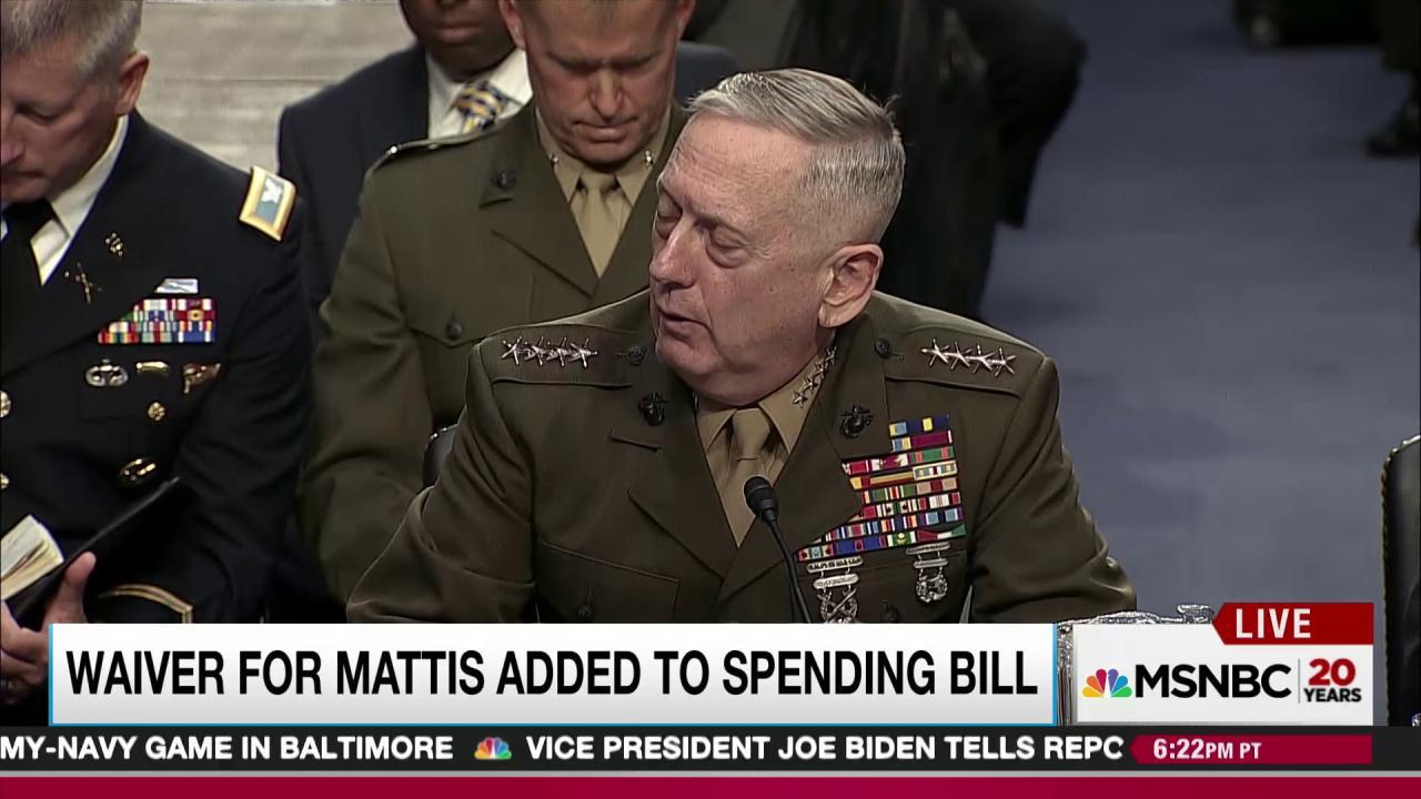 Congress drafts Trump defense pick loophole