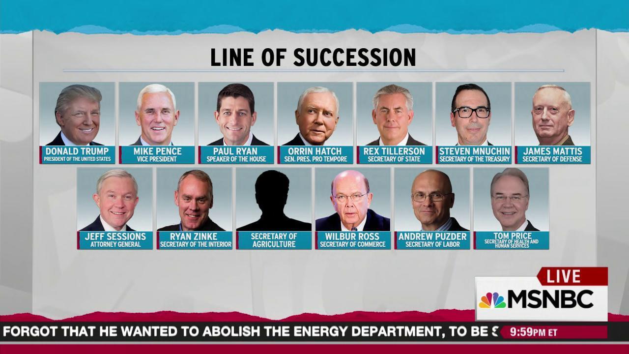 Trump line of succession bears common trait