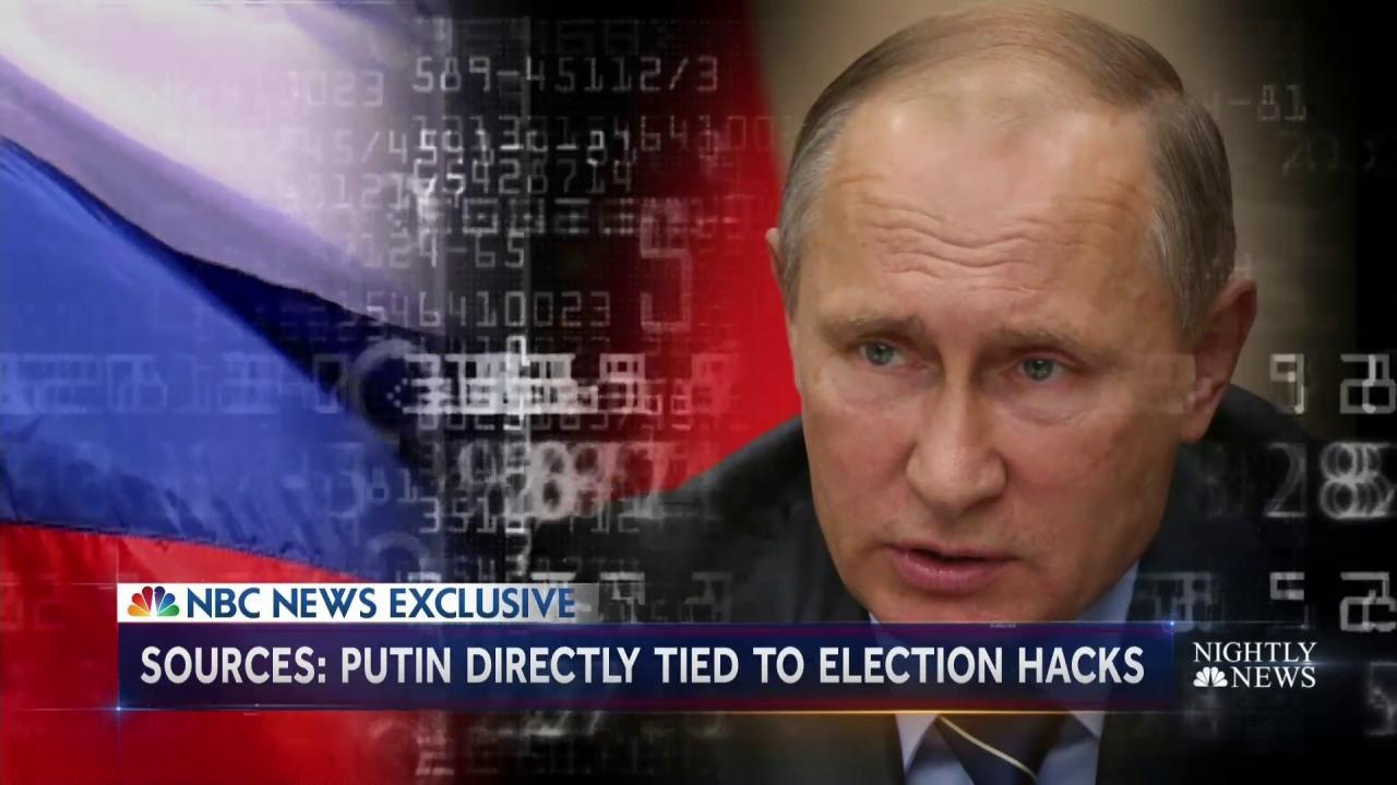 U.S. Intel Directly Links President Putin to Campaign to Disrupt U.S. Election