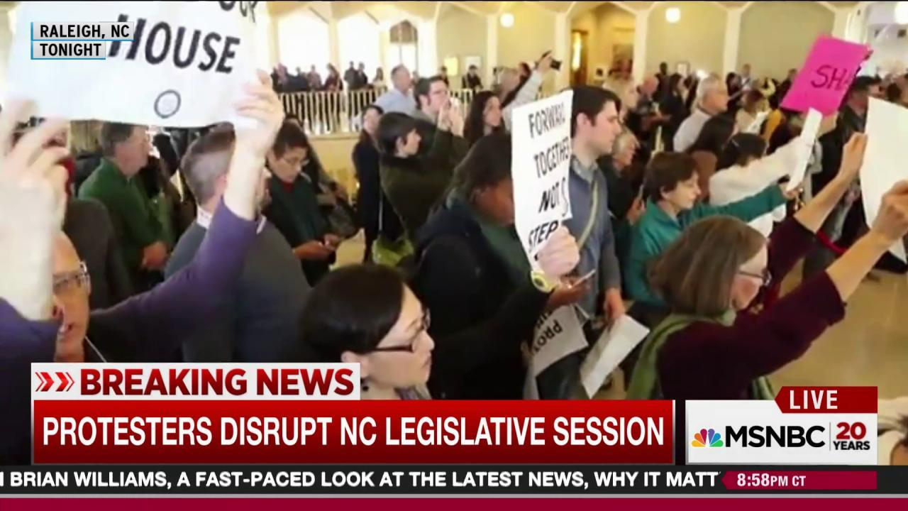 NC GOP's late power grab sparks protests