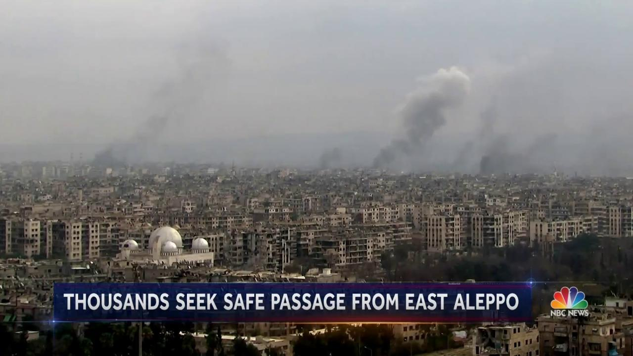Thousands of Aleppo Residents Awaiting Safe Passage From Besieged City - NBC News