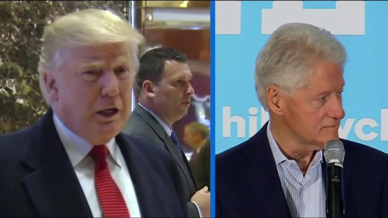 Bill Clinton, Trump clash over election...