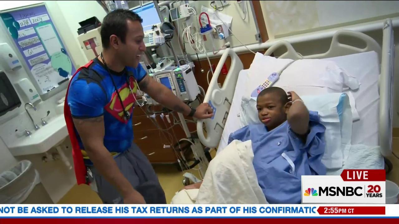 Nurse dresses up to bring joy to sick kids