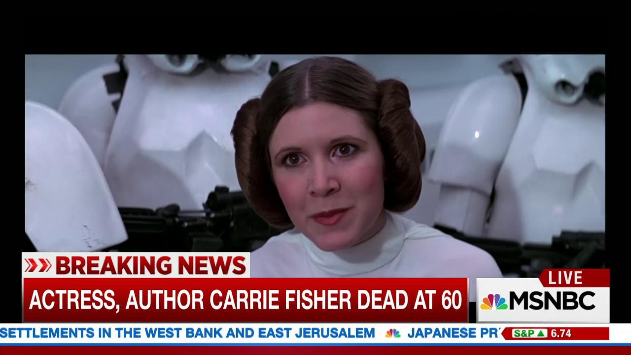 Hundreds react to Carrie Fisher's death