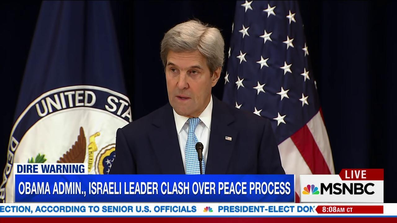 Kerry and the conflict in Israel