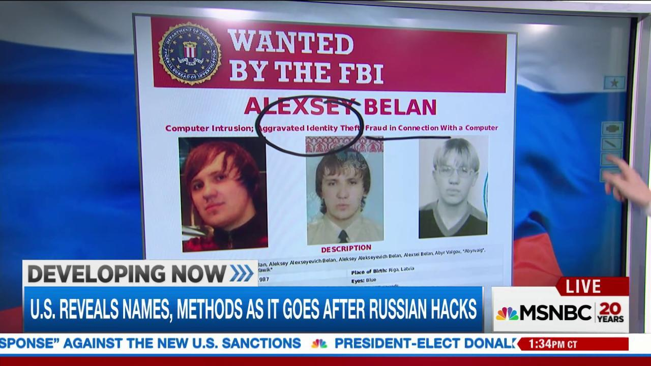 Russian hackers wanted by FBI