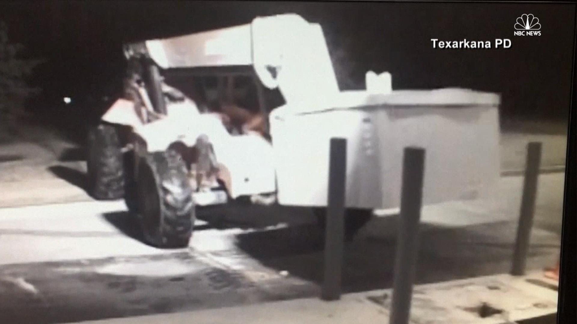 Atm Theft Caught On Camera Nbc News