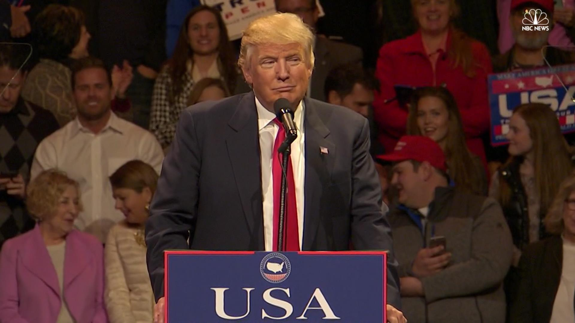 Trump Pledges America First In Speech On Victory Tour