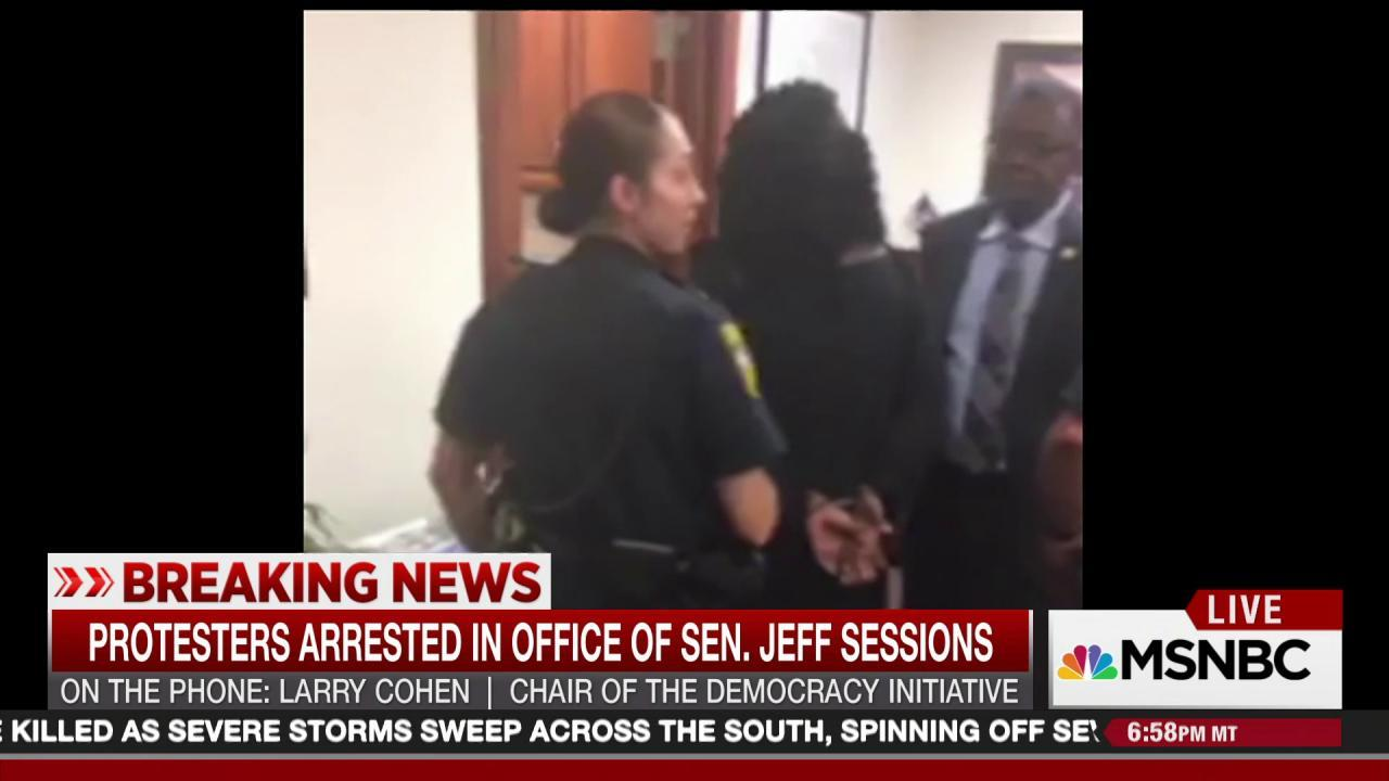NAACP Stages Sit-In to Protest Jeff Sessions' Attorney ...