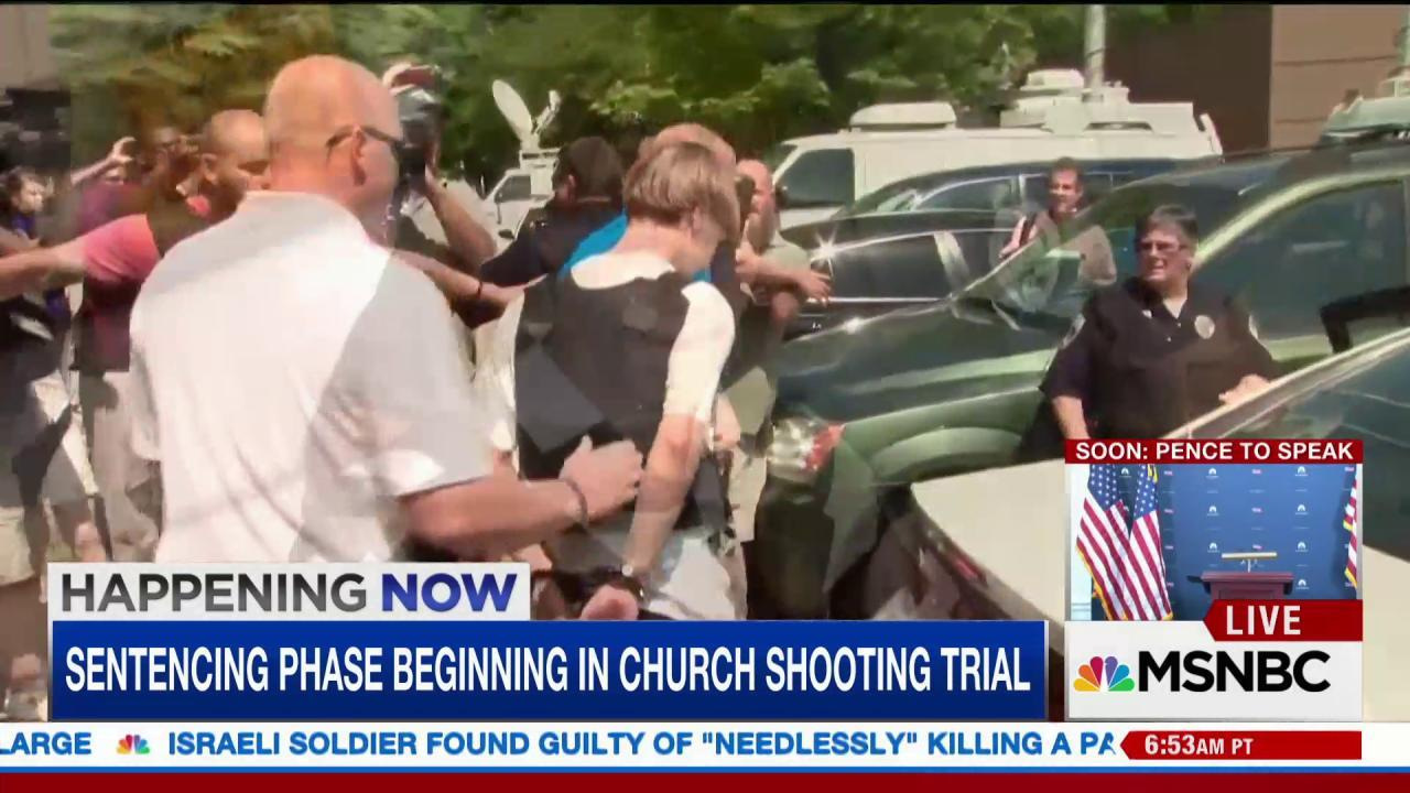 Sentencing begins for Charleston church...