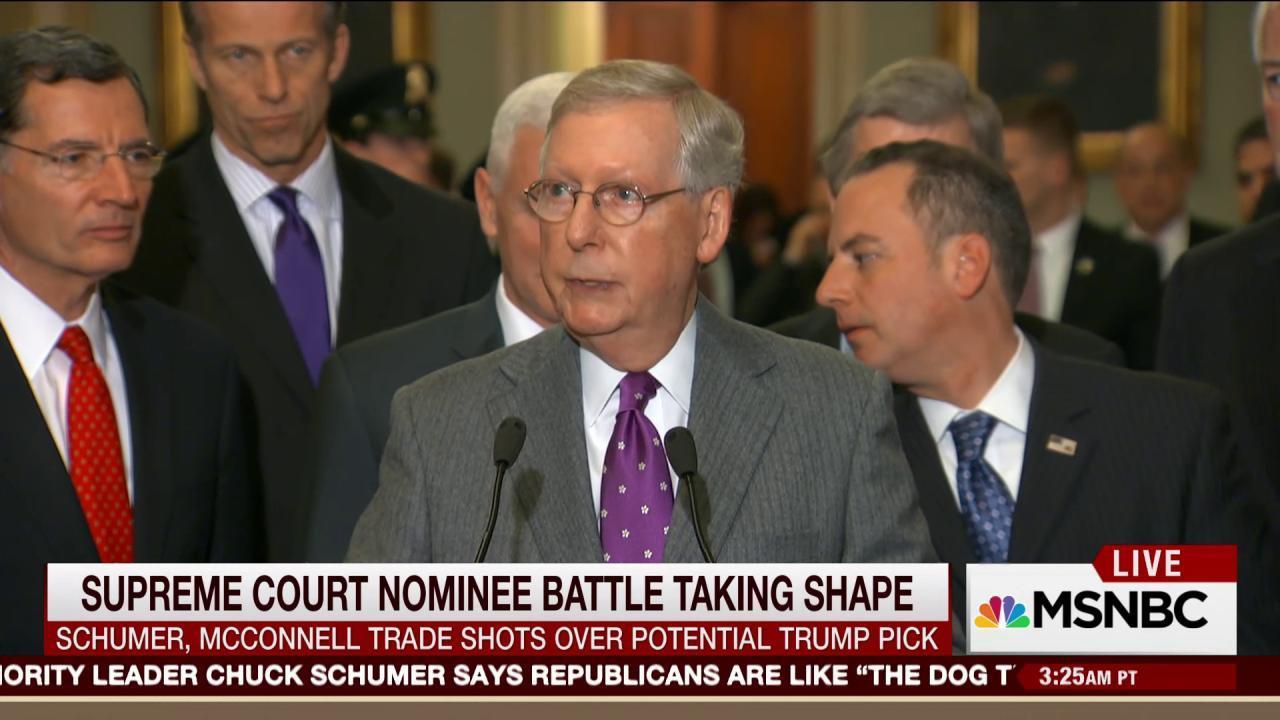 Political battle over Supreme Court nominee