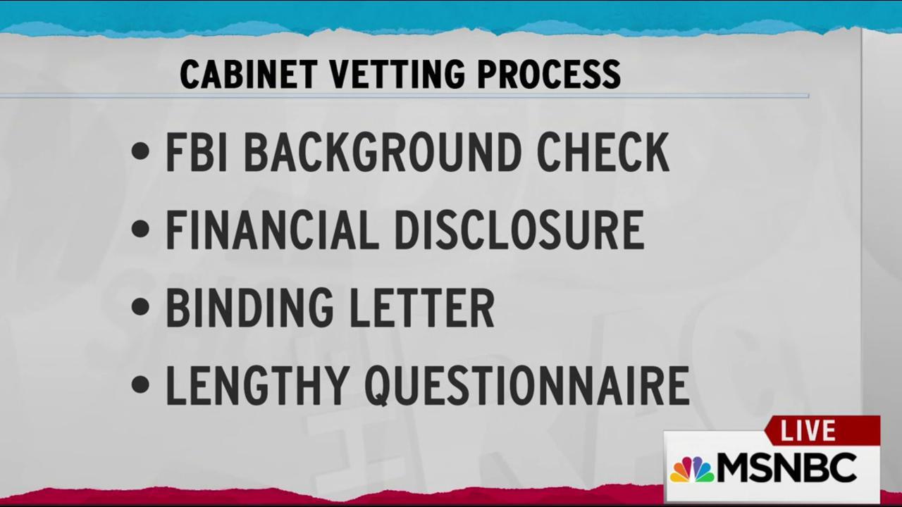 Trump weak vetting invites future scandal