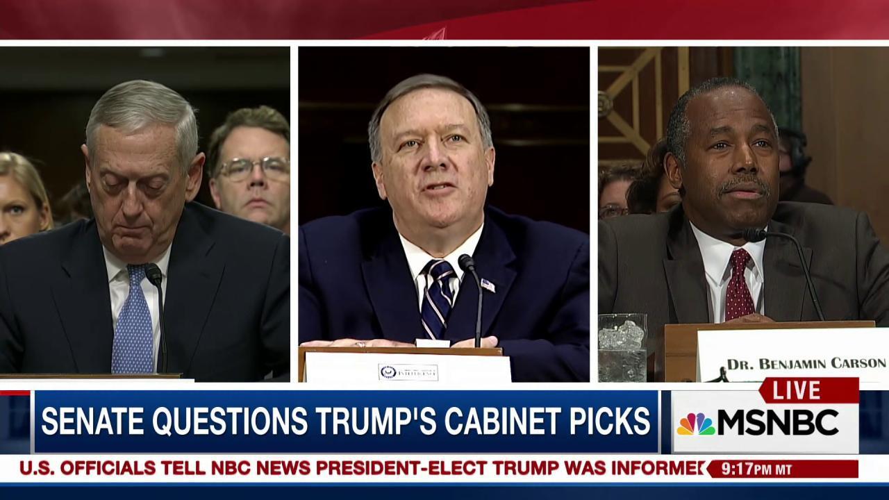 Trump's words vs. his Cabinet nominees' words