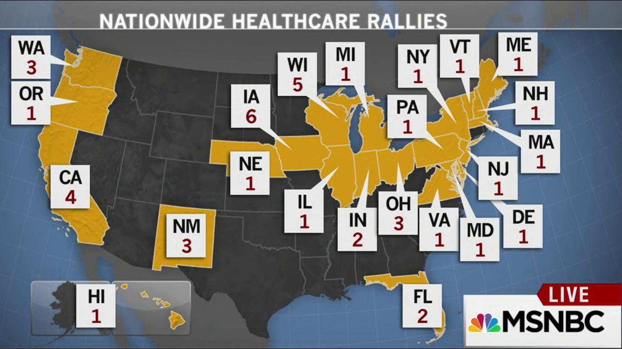 Bernie Sanders rallies to save health care