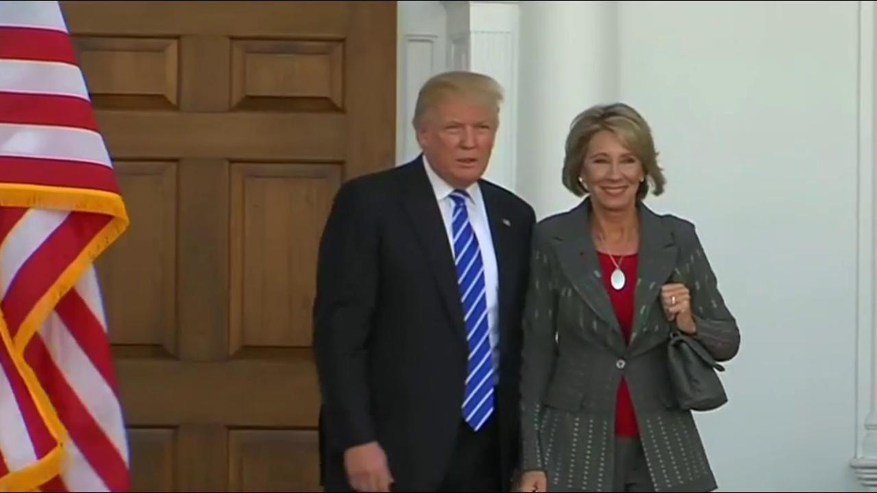 Trump's education Secy. pick faces Senate...
